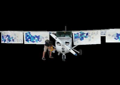 MzeroA Cessna Aircraft Wrap